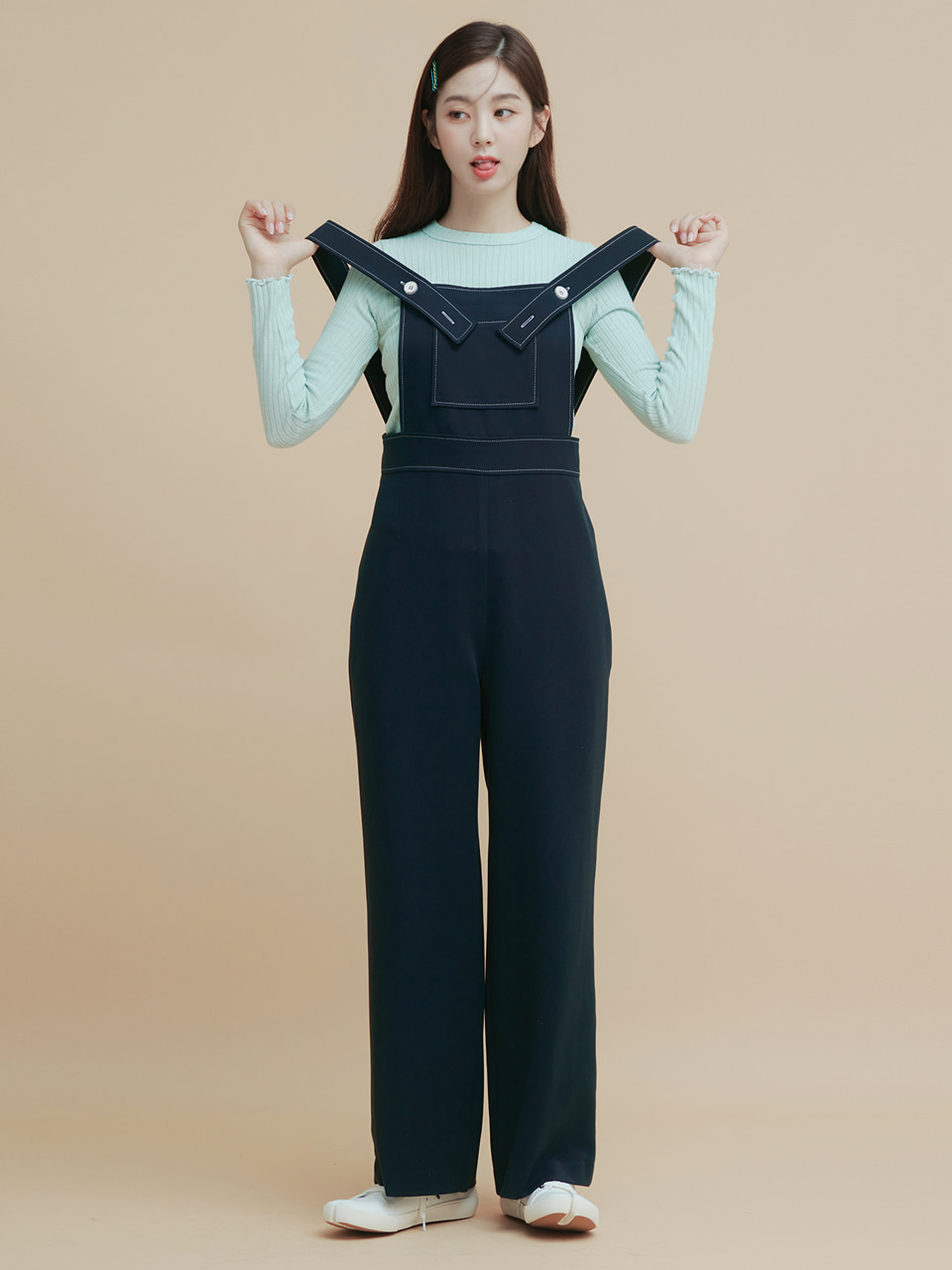 [NEW 40%]스티치 오버롤 STITCH POCKET OVERALL
