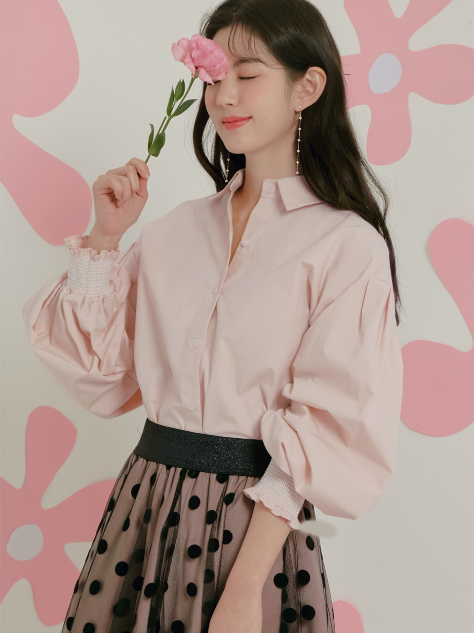 [NEW 30%]슬리브 터킹 블라우스 SLEEVE TUCKING BLOUSE / PINK